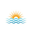 water wave icon vector image vector image