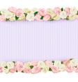 Wedding Flower Frame vector image vector image