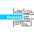 word cloud finance vector image vector image
