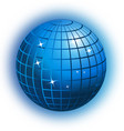 world globe business networking icon vector image