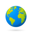 world - planet earth graphic vector image vector image