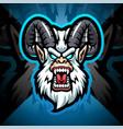 yeti head esport mascot logo design vector image vector image