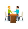 meeting business partners in quiet cozy atmosphere vector image