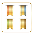 Gold colored bookmark vector image