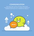 speech bubble communication concept flat vector image