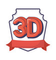 3d digital technology innovation vector image