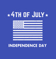 4th of july independence day patriotic poster vector image