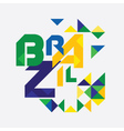 Abstract Brazil vector image