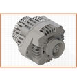 alternator isometric perspective view flat vector image vector image
