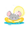 baby mouse swimming cartoon character