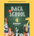 back to school poster open day party event vector image vector image