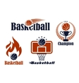 Basketball sport team emblems and symbols vector image