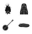 bonfire turkish woman and other web icon in black vector image vector image