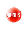 bonus circular icon isolated sticker badge logo vector image