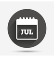 Calendar sign icon July month symbol vector image vector image