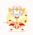 cartoon hanuman thai character vector image