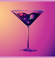 cocktail party with drink glass and vector image