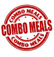 combo meals sign or stamp vector image