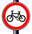 Cyclist Sign vector image vector image