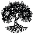 Decor silhouette tree vector image