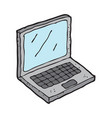digitally drawn laptop design hand drawing style vector image vector image