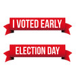 election day united states voting ribbon vector image vector image