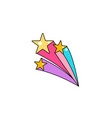 falling star with tail background cool vector image