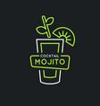 for bar menu alcoholic cocktail vector image