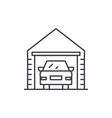 garage line icon concept garage linear vector image vector image
