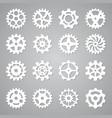 gears icons cogwheel circle mechanism wheel vector image