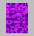 geometrical polygonal triangle mosaic page vector image vector image
