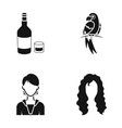 hairdresser production nature and other web icon vector image vector image