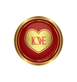 Heart icon with love vector image