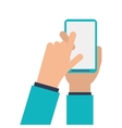 human hand smartphone mobile vector image