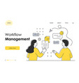marketing material time management concept vector image