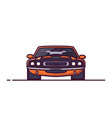 muscle car front view vector image vector image