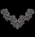 neckline ethnic design vector image vector image