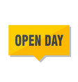 open day price tag vector image vector image
