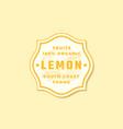 organic lemon abstract sign symbol or logo vector image