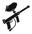Paintball marker icon simple style vector image vector image