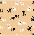 pattern of the funny cats and cheerful dogs vector image vector image