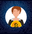 people bitcoin related vector image vector image