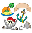 pirate collection 4 vector image