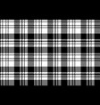 pixel black white plaid seamless pattern vector image vector image