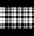 pixel black white plaid seamless pattern vector image