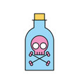 poison bottle with skull vector image vector image