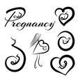 pregnancy logos set vector image