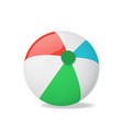 realistic detailed 3d beach ball vector image vector image