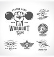 retro fists logo templates set different vector image vector image