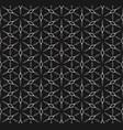 rhombuses geometric pattern monochrome seamless vector image vector image